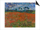 Poppy Field, 1890 Poster by Vincent van Gogh