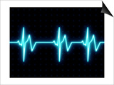 Modern Heart Beat ECG Graph Posters by  oriontrail2