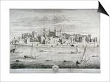 Tower of London, C1700 Prints by Johannes Kip