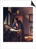 The Geographer, 1668-1669 Posters by Jan Vermeer