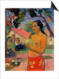 Eu Haere Ia Oe (Woman Holding a Fruit. Where are You Going), 1893 Print by Paul Gauguin