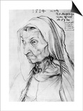 Portrait of the Artist's Mother, 1514 Prints by Albrecht Durer