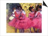Dancers in Pink, Between the Scenes Prints by Edgar Degas