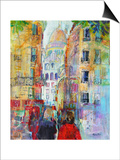 An Evening Walk to Sacre Coeur Prints by Sylvia Paul