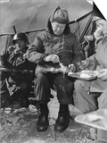 President-Elect Dwight Eisenhower Eating with Soldiers in Korea on Dec. 1952 Prints