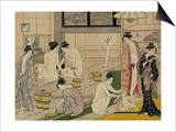 The Bathhouse Women, 1790S Art by Torii Kiyonaga