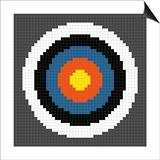 8-Bit Pixel-Art Archery Target Art by  wongstock