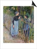 Conversation, Ca 1881 Affiche par Camille Pissarro