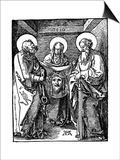 St Veronica with the Sudarium Between St Peter and Paul, 1510 Poster par Albrecht Durer