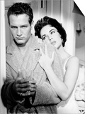 Cat on a Hot Tin Roof, from Left, Paul Newman, Elizabeth Taylor, 1958 Art