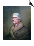 Thomas Jefferson, 1805 Print by Rembrandt Peale