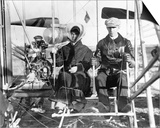 Wilbur and Katharine Wright Preparing for Flight Prints