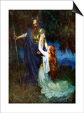 Odin and Brunhilde Prints