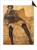 A Sitting Woman, C. 1918 Prints by Boris Dmitryevich Grigoriev