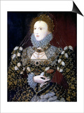 Elizabeth I, Queen of England and Ireland, 1575 Prints by Nicholas Hilliard