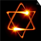 Star of David Created by Light Prints by  Zoom-zoom
