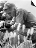 U.S. Marine in Prayer for the Safety of Himself and His Comrades. Minutes Later Art