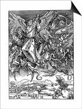 St Michael Battling with the Dragon, 1498 Prints by Albrecht Durer