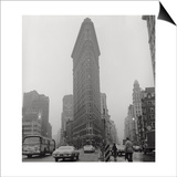 Flatiron Building in Rain Poster by Henri Silberman