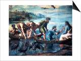 The Miraculous Draught of Fishes, 1515 Affiches par  Raphael