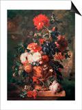 Flowers, 1722 Print by Jan van Huysum