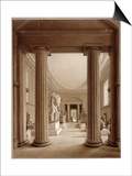 Egyptian Gallery in the British Museum, London, C1840 Art by Robert Havell the Younger