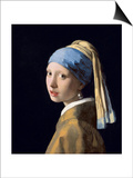 Girl with a Pearl Earring, C.1665-6 Posters by Jan Vermeer