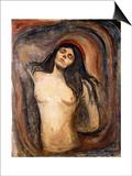 Madonna, 1894-1895 Prints by Edvard Munch