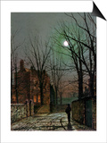 By the Light of the Moon, 1882 Posters by John Atkinson Grimshaw