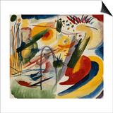 Wassily Kandinsky - No Title; Ohne Titel, 1912-13 - Reprodüksiyon