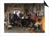 In the Troops' Quarters Outside Paris, 1894 Prints by Anton von Werner