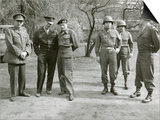 British and American World War 2 Commanders During a Visit by Winston Churchill Posters