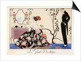 Le Grand Decolletage, 1921 Prints by Georges Barbier