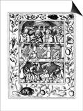 The Four Great Alchemists, 1652 Kunstdruck von Robert Vaughan