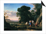 Judgement of Paris (1645-164) Prints by Claude Lorrain