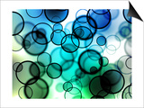 Blue and Green Colored Cool Bubbles Art by  oriontrail2