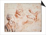 Study, 1716-1718 Prints by Jean-Antoine Watteau