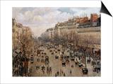 Boulevard Montmartre in Paris, 1897 Affiches par Camille Pissarro