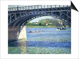 Le Pont D'Argenteuil Et La Seine, Ca. 1883 Print by Gustave Caillebotte