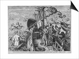 Christophorus Columbus Ligur (Americae Retecti), 1591 Posters por Philipp Galle