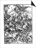 The Four Horsemen of the Apocalypse, 1498 Poster by Albrecht Durer