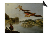Landscape with Fall of Icarus Prints by Carlo Saraceni