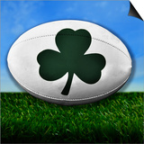 Ireland Rugby Print by  koufax73