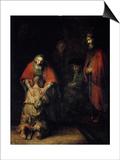 The Return of the Prodigal Son, C1668 Prints by  Rembrandt van Rijn