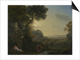 Landscape with Narcissus and Echo, 1644 Posters by Claude Lorrain