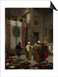 The Carpet Merchant, C.1887 Posters af Jean Leon Gerome