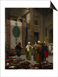 The Carpet Merchant, C.1887 Prints by Jean Leon Gerome