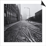 Brooklyn Trolley Tracks Art by Henri Silberman