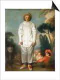 Gilles - Pierrot, 1718-1719 Posters af Jean-Antoine Watteau