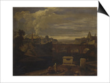 Classical Landscape with Roman Temples and Urban Scene, Ca. 1763-79 Poster by Jean Francois Millet